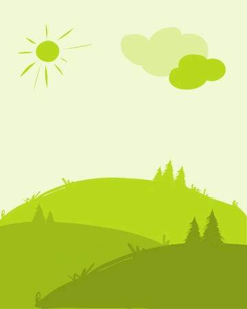Green hills, landscape for your design