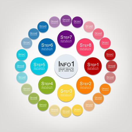 Illustration pour Circle infographic for your design. Vector illustration - image libre de droit