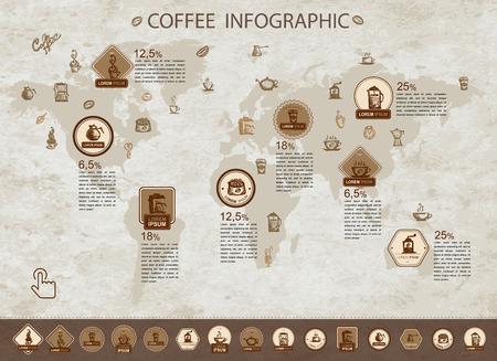 Illustration pour Coffee infographic for your design. Vector illustration - image libre de droit