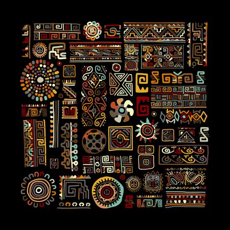 Illustration pour Ethnic handmade ornament for your design. Vector illustration - image libre de droit
