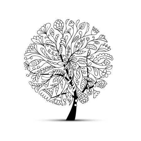 Illustration pour Art tree beautiful for your design. Vector illustration - image libre de droit