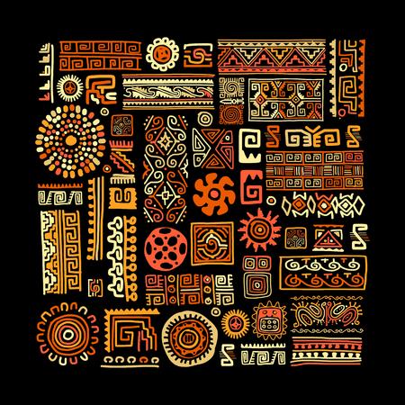 Photo pour Ethnic handmade ornament for your design. Vector illustration. - image libre de droit