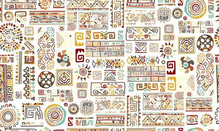 Illustration pour Ethnic handmade ornament, seamless pattern Vector illustration. - image libre de droit