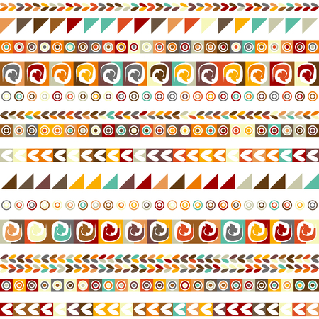 Illustration for Ethnic handmade ornament, seamless pattern for your design. - Royalty Free Image