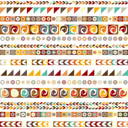 Illustration pour Ethnic handmade ornament, seamless pattern for your design. - image libre de droit