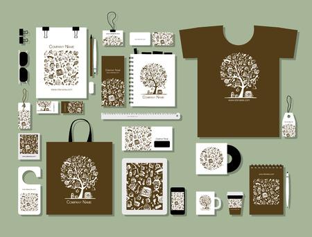 Ilustración de Corporate flat mock-up template - Imagen libre de derechos