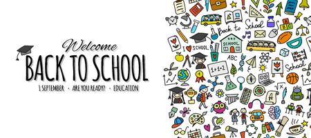 Illustration pour Back to school, background for your design. Vector illustration - image libre de droit