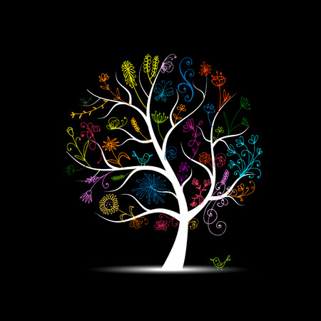 Illustration for Floral tree for your design - Royalty Free Image