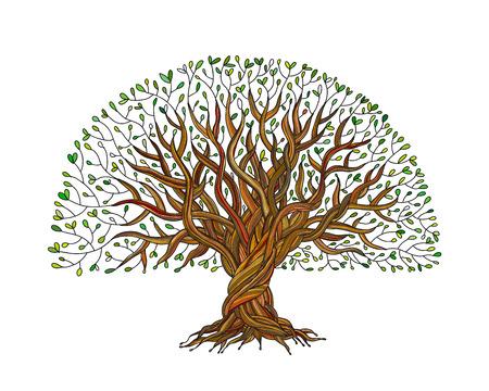 Photo pour Big tree with roots for your design. Vector illustration - image libre de droit