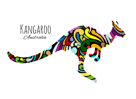 Illustration pour Ornate kangaroo, sketch for your design. - image libre de droit