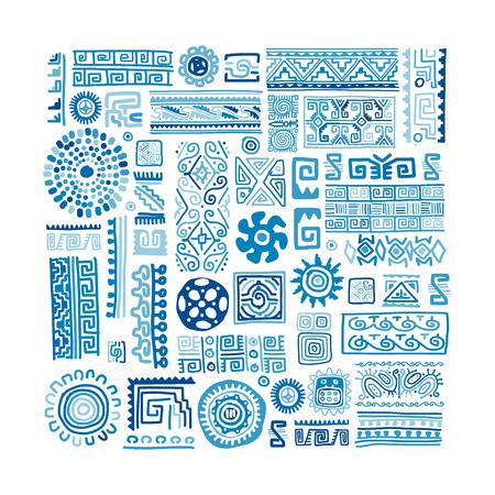 Illustration pour Ethnic handmade ornament for your design - image libre de droit