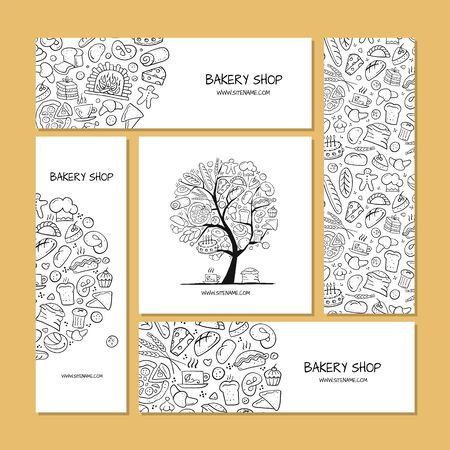 Illustration for Business cards, design idea for bakery company. Vector illustration - Royalty Free Image