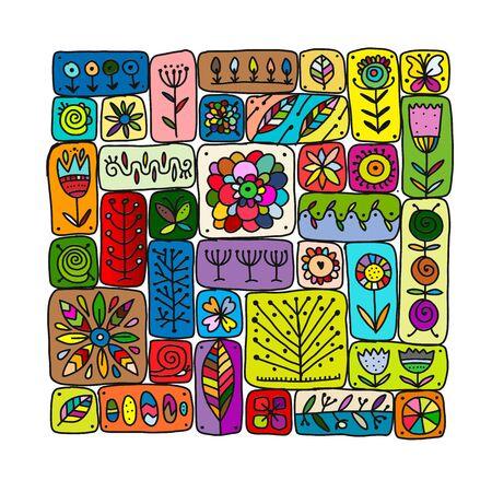 Illustration pour Ethnic floral pattern for your design. Vector illustration - image libre de droit