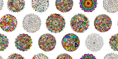 Illustration pour Mandala collection, seamless pattern for your design - image libre de droit