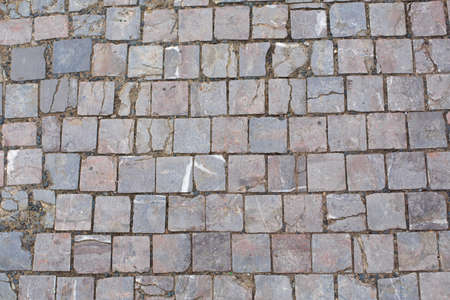 Photo for Texture of old broken stone paving stones. - Royalty Free Image
