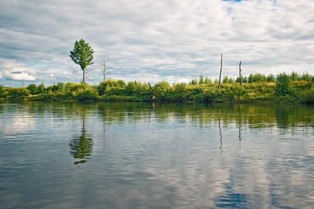 Dep river bank, the Amur region, Russia