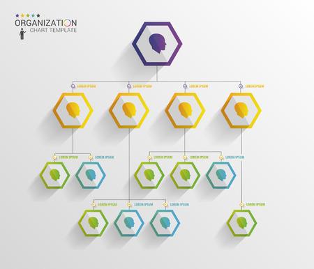Illustration pour Modern organization chart template. Vector - image libre de droit