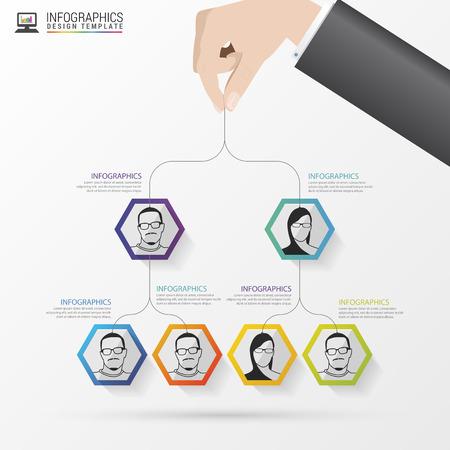 Illustration pour Business structure. Organisation chart. Infographic design. Vector illustration - image libre de droit