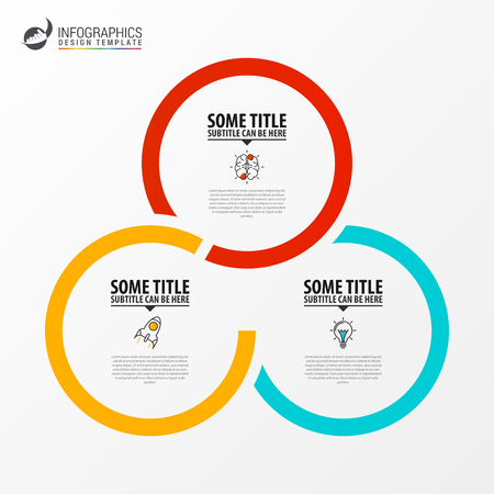 Illustration pour Infographic design template. Creative concept with 3 steps. Can be used for workflow layout, diagram, banner, webdesign. Vector illustration - image libre de droit