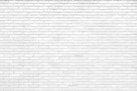 White brick wall texture as a background