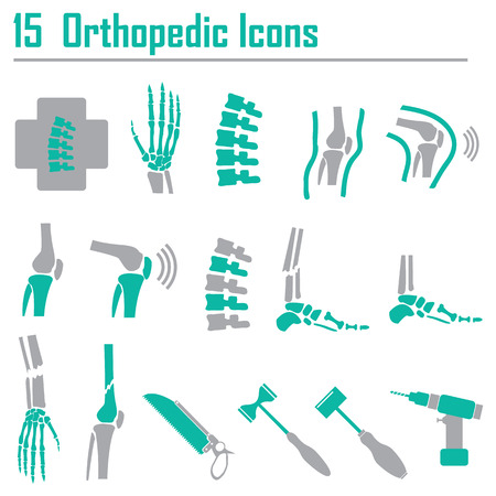 Illustration pour 15 Orthopedic and spine symbol - vector illustration - image libre de droit
