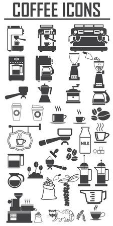 Illustration pour coffee icons set. Big pack - image libre de droit