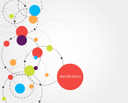 Ilustración de Connection concept. Geometric vector background for business or science presentation. - Imagen libre de derechos
