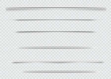 Ilustración de Dividers isolated on transparent background. Shadow dividers. Vector illustration - Imagen libre de derechos