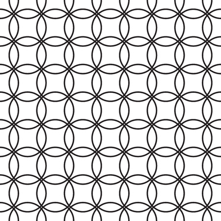 Geometric seamless pattern. Vector retro black and white background
