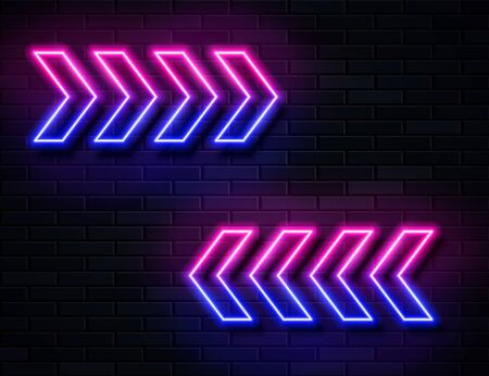 Futuristic Sci Fi Modern Neon Pink and Blue Gradient Glowing Arrows