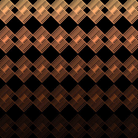 Illustration for Modern Linear Geometric Pattern. Glowing Background. Linear Gradient - Royalty Free Image