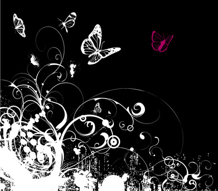 grungy emo background vector