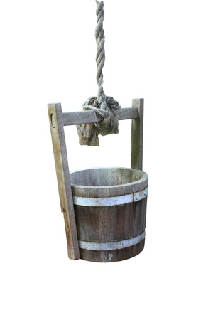 Draw water barrels a white background