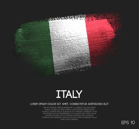 Illustration pour Italy Flag Made of Glitter Sparkle Brush Paint Vector - image libre de droit