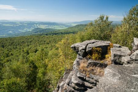 view from decinsky sneznik in bohemian switzerland