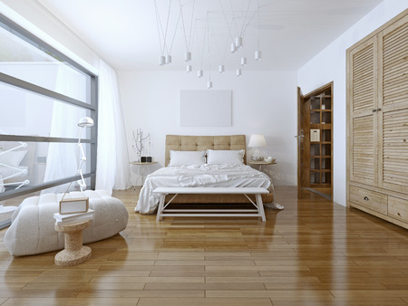 Spacious bedroom loft style