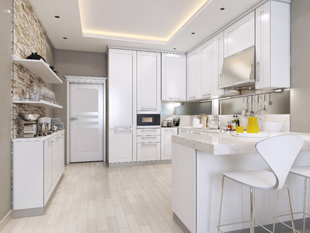 kitchen modern style, 3d images
