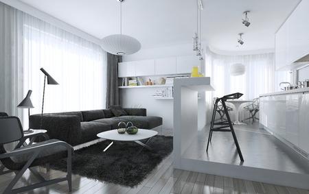 Foto de Apartment studio modern style, 3d images - Imagen libre de derechos