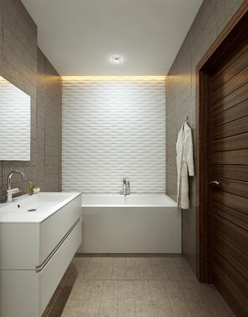 Bathroom modern style, 3d images