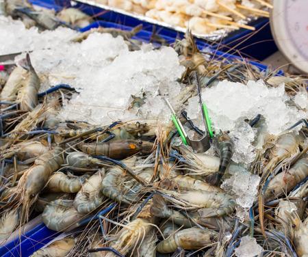 Fresh Giant thailand prawn are on sale in the bazaar