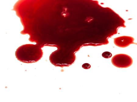 Photo pour Blood stains on white background - image libre de droit