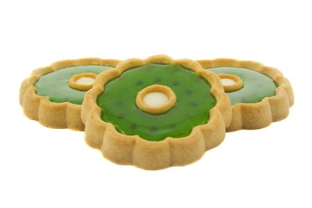 Sweet cookies isolated over white background