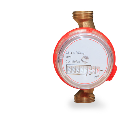 Water meter isolated on white background