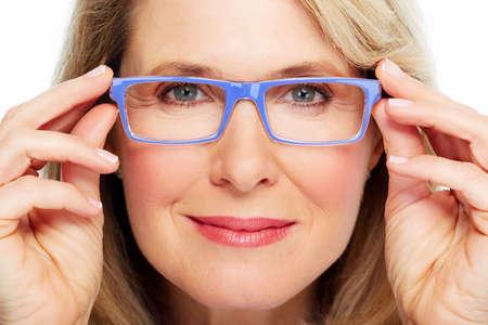 Beautiful senior woman wearing eyeglasses  Vision
