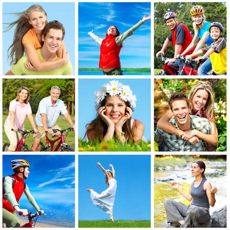 Photo for Happy people in park - Royalty Free Image