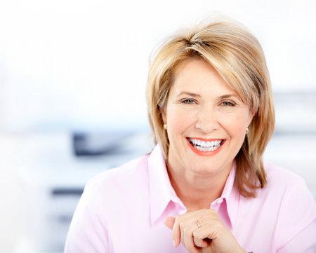 Foto für Happy business woman in the office  - Lizenzfreies Bild