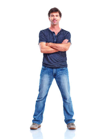 man standing with arms folded