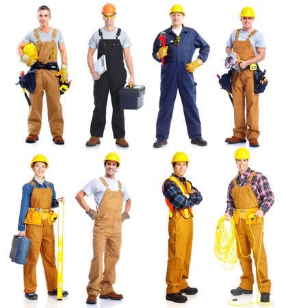 Photo for Group of  workers people. Construction. - Royalty Free Image