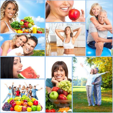 Foto de Happy healthy people collage. - Imagen libre de derechos