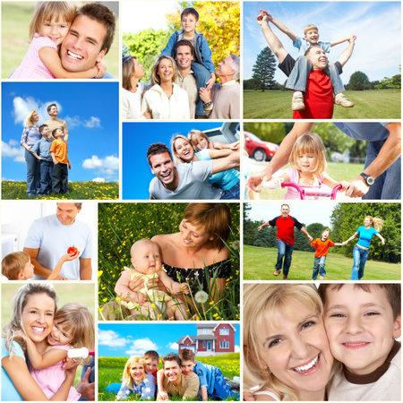 Foto de Happy family collage. - Imagen libre de derechos